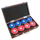 Carmelli NG1223 Shuffleboard Pucks w/ Case - Set of 8