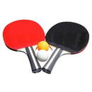 Carmelli NG2341P Single Star Control Spin Table Tennis 2-Player Racket & Ball Set