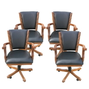 Carmelli NG2351CH Kingston Oak Poker Table Arm Chair - Set of 4