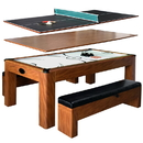 Carmelli NG2422H Sherwood 7-ft Air Hockey Table w/Benches