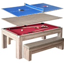 Carmelli NG2535P Newport 7-ft Pool Table Combo Set w/ Benches