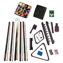 Carmelli NG2540M Deluxe Billiards Accessory Kit - Mahogany Finish