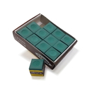 Carmelli NG2544 Green Billiard Pool Cue Chalk - 12 pack