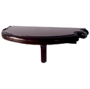 Carmelli NG2552M Premium Half Moon Wall Shelf - Mahogany Finish