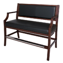 Carmelli NG2554W Hampton Club Spectator Bench - Walnut Finish
