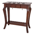 Carmelli NG2565W Deluxe Floor Cue Rack - Walnut Finish