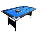 Carmelli NG2574 Fairmont Portable 6-Ft Pool Table for Families with Easy Folding for Storage, Includes Balls, Cues, Chalk