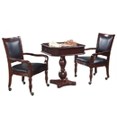 Carmelli NG2995 Fortress Chess, Checkers & Backgammon Pedestal Game Table & Chairs Set - Mahogany