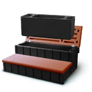 Confer NP5651 Spa Step w/ Storage - Redwood
