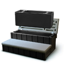 Confer NP5653 Spa Step w/ Storage - Gray