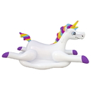 Blue Wave NT2697 Cloud Rider Rainbow Unicorn Inflatable Ride-On Pool Float