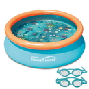 Blue Wave NT5007 3D Quick Set Round Family Pool - 7-ft