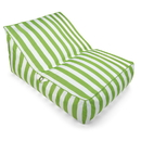 Drift and Escape NT6054-GR Stratus Sofa - Bean Bag Pool Float - Green Stripes