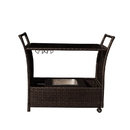 Island Retreat NU2057 Outdoor Bar Cart - Rolling Resin Wicker Bar for Pools and Patios