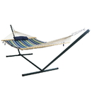 Blue Wave NU3105 Island Retreat Hammock Set - Blue Cover - 12-ft