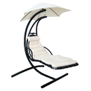 Blue Wave NU3221 Island Retreat Hanging Lounge w/ Shade Canopy - Khaki