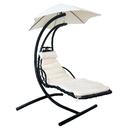 Island Umbrella NU3221 Island Retreat Hanging Lounge w/ Shade Canopy in Khaki