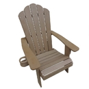 Island Retreat NU3222TK Adirondack Chair in Teak - Outdoor Deck, Patio Seating