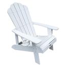 Island Umbrella NU3222 Island Retreat Adirondack Chair - White