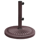 Blue Wave NU5406 66-lb Weather Resistant Umbrella Base in Bronze Resin Finish - 66-lb