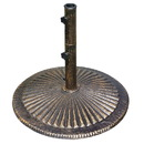 Island Umbrella NU5408 80-lb Classic Cast Iron Umbrella Base in Bronze