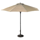 Island Umbrella NU5419CH Cabo 9-ft Octagonal Market Umbrella with Champagne Olefin Canopy
