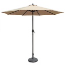 Island Umbrella NU5422CH Mirage 9-ft Octagonal Market Umbrella with Champagne Olefin Canopy