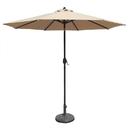 Island Umbrella NU5422R Mirage 9-ft Octagonal Market Umbrella with Olefin Canopy - Red / Olefin