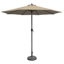 Island Umbrella NU5422SS Mirage 9-ft Octagonal Market Umbrella with Stone Sunbrella Canopy