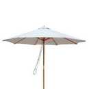Island Umbrella NU5426ST Tranquility 9-ft Hardwood Market Umbrella in Olefin with Wind Vent - Stone