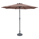 Island Umbrella NU5429CF Trinidad 9-ft Octagonal Market Umbrella in Coffee Polyester