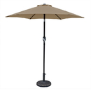 Island Umbrella NU5447ST Bistro 7.5-ft Hexagonal Market Umbrella - Stone Olefin Canopy