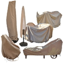 Island Umbrella NU5562 All-Weather Protective Cover for 54-in Round Table & Chairs w/ Umbrella Hole