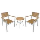Island Retreat NU6799 Patio Furniture Set with White Frame, Wood Finish