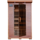HeatWave SA1309 Yukon 2-Person Cedar Deluxe Infrared Sauna w/ 6 Carbon Heaters - 2