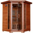 HeatWave SA1312 Hudson Bay 3-Person Cedar Corner Infrared Sauna w/ 7 Carbon Heaters - 3