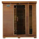 HeatWave SA1318 Klondike 4-Person Cedar Infrared Sauna w/ 9 Carbon Heaters - 4