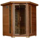HeatWave SA1320 Whistler 4-Person Cedar Corner Infrared Sauna w/ 10 Carbon Heaters - 4