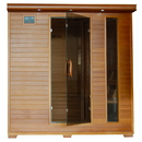HeatWave SA1323 Great Bear 6-Person Cedar Infrared Sauna w/ 10 Carbon Heaters - 6