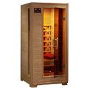 HeatWave SA2400 Buena Vista 1-2 Person Hemlock Infrared Sauna w/ 3 Ceramic Heaters - 1