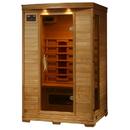 HeatWave SA2406 Coronado 2-Person Hemlock Deluxe Infrared Sauna w/ 5 Ceramic Heaters - 2
