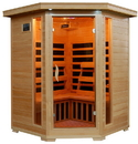HeatWave SA2412DX Sante Fe 3-Person Hemlock Corner Infrared Sauna w/ 7 Carbon Heaters