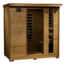 HeatWave SA2418 Monticello 4-Person Hemlock Infrared Sauna w/ 9 Carbon Heaters - 4