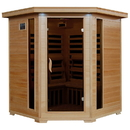 HeatWave SA2420DX Tucson 4-Person Hemlock Corner Infrared Sauna w/ 10 Carbon Heaters - 4