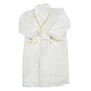Radiant Saunas SA5120 European Spa & Bath White Waffle Weave Terry Cloth Robe w/ Gold Embroidered Trim
