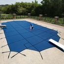 Arctic Armor WS340G 18-Year Mesh In-Ground Pool Safety Cover - Green / 16-ft x 34-ft