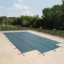 Arctic Armor WS407G Green 18-Year Mesh Safety Cover for 20-ft x 44-ft Rect Pool w/ Right Step