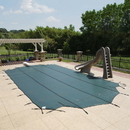 Arctic Armor WS742G 20-Year Super Mesh In-Ground Pool Safety Cover w/ Step Section - Green / 18-ft x 36-ft / Center End Step