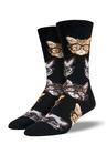Socksmith Men's Kittenster Socks, Black Black
