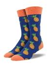 Socksmith Men's Many Pineapples Socks, Navy